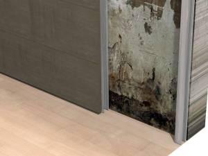 Controparete su murature con problemi di umidità